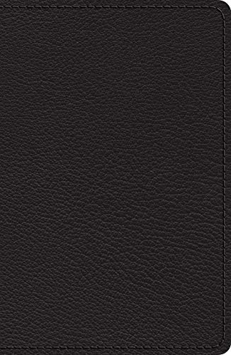ESV Heirloom Single Column Legacy Bible (Black Goatskin)