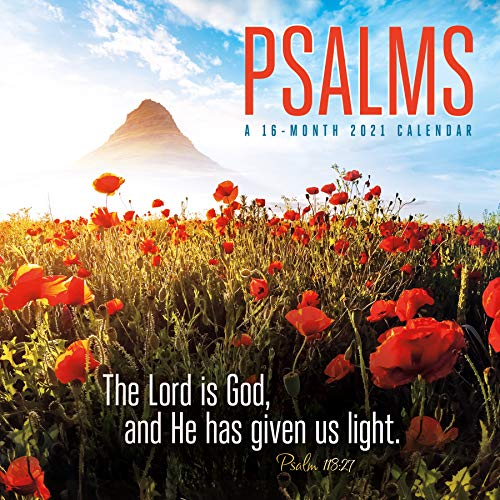 Psalms 2021 Wall Calendar