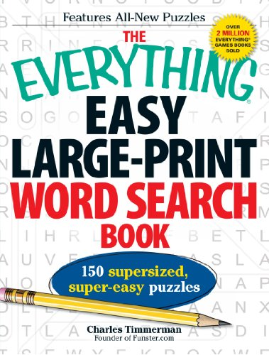 Easy Large-Print Word Search Book (The Everything)