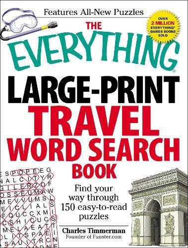 Large-Print Travel Word Search Book (The Everything)