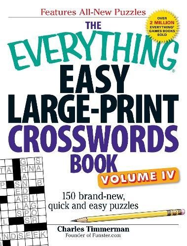 Easy Large-Print Crosswords Book, Volume 4 (The Everything)