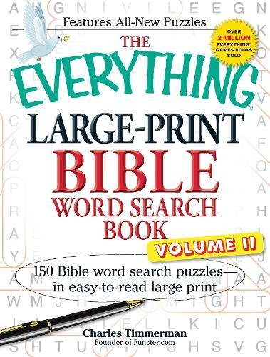 Large-Print Bible Word Search Book, Volume 2 (The Everything)