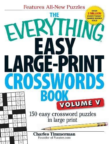 Easy Large-Print Crosswords Book, Volume 5 (The Everything)