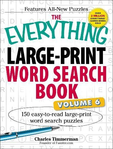Large-Print Word Search Book, Volume 6 (The Everything)