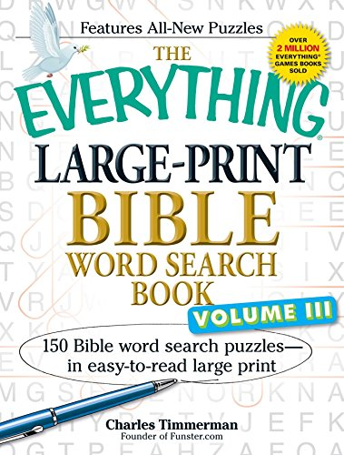 Large-Print Bible Word Search Book, Volume III (The Everything)