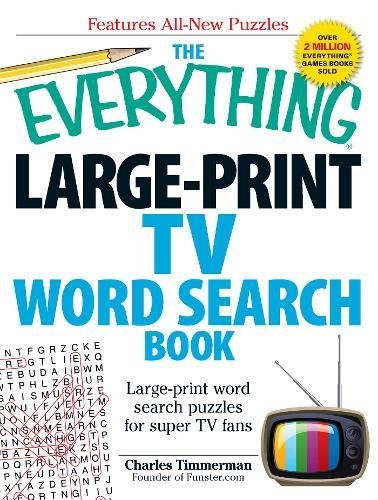 Large-Print TV Word Search Book (The Everything)