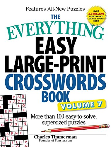 Easy Large-Print Crosswords Book Volume 7 (The Everything)