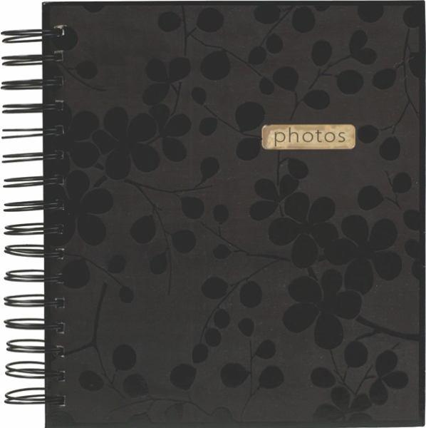 Black Floral Photo Album