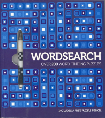 Wordsearch: Over 300 Word-Finding Puzzles (Includes  Puzzle Pencil, Blue)
