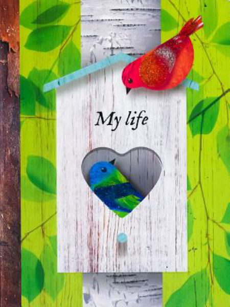 My Life Tabbed Notebook (Birds, Life Canvas)