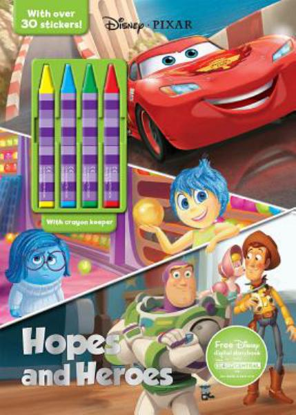 Hopes and Heroes Coloring Book with Crayons (Disney Pixar)