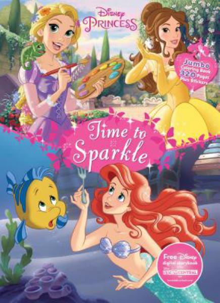Time To Sparkle Jumbo Coloring Book Disney Princess