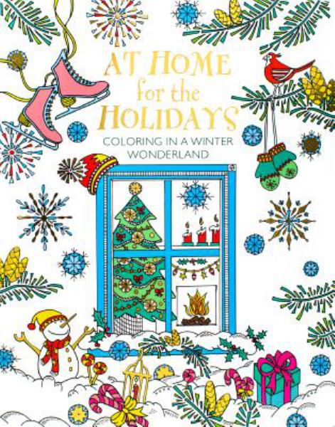 At Home for the Holidays: Coloring in a Winter Wonderland