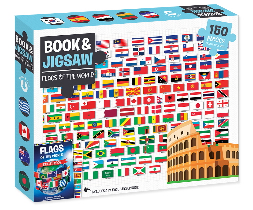 Flags of the World: 150 Piece Book & Jigsaw Puzzle