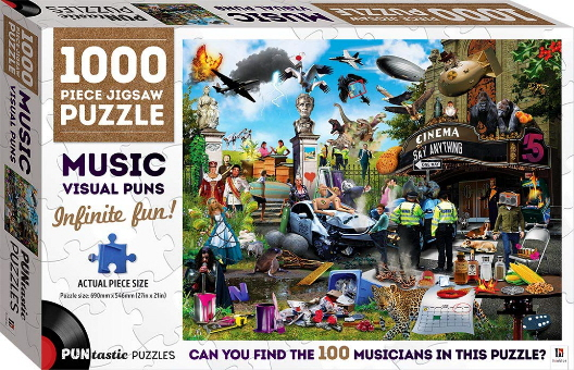 Music Visual Puns: 1000 Piece Jigsaw Puzzle (Puntastic Puzzles)