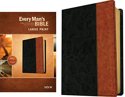 NIV Every Man's Large Print Bible (Deluxe Black & Tan Edition)