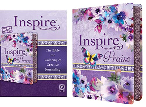 NLT Inspire Praise: The Bible for Coloring & Creatice Journaling