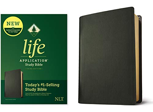NLT Life Application Study Bible (Third Edition, Black Genuine Leather)