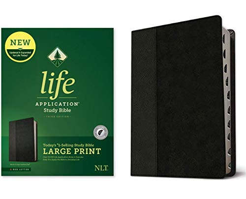 NLT Life Application Study Bible (Third Edition, XL Thumb Indexes - Black & Onyx Imitation Leather)