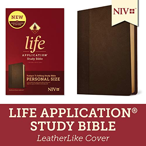 NIV Life Application Study Bible (Third Edition, Dark Brown & Brown Imitation Leather)