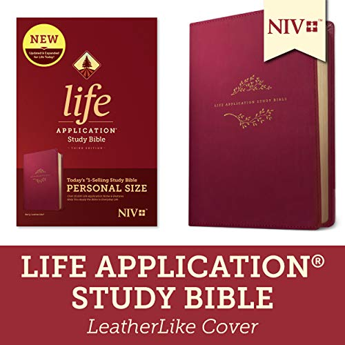 NIV Life Application Personal Size Study Bible (Third Edition, Berry Imitation Leather)