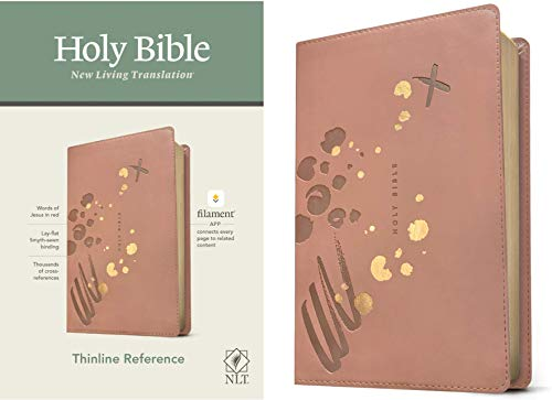 NLT Thinline Reference Holy Bible (Brushed Pink Imitation leather)
