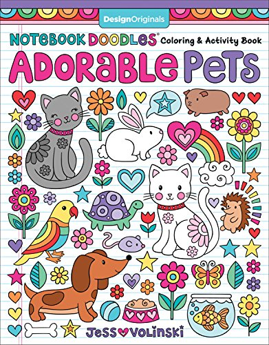 Adorable Pets: Coloring & Activity Book (Notebook Doodles)