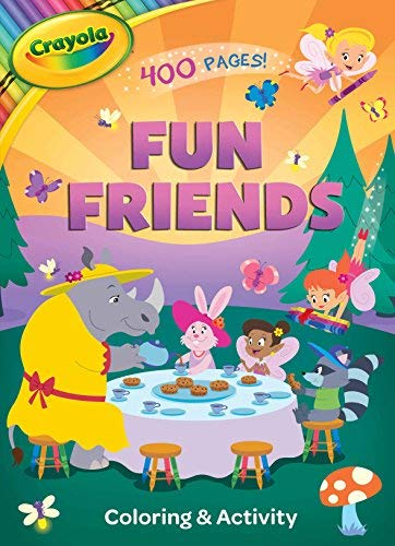 fun friends coloring activity book crayola bookoutlet com