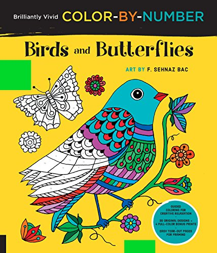 Birds and Butterflies (Brilliantly Vivid Color-By-Number)