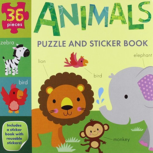 Animals Puzzle and Sticker Book Set (My Little World)