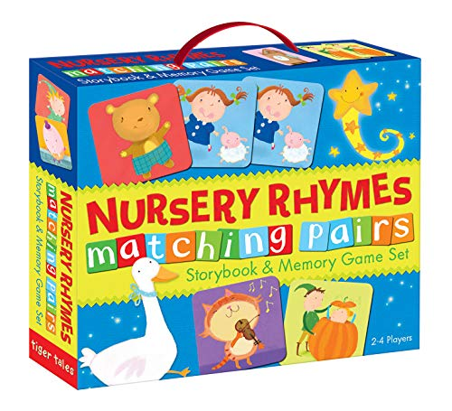 Nursery Rhymes Matching Pairs Storybook & Memory Game Set