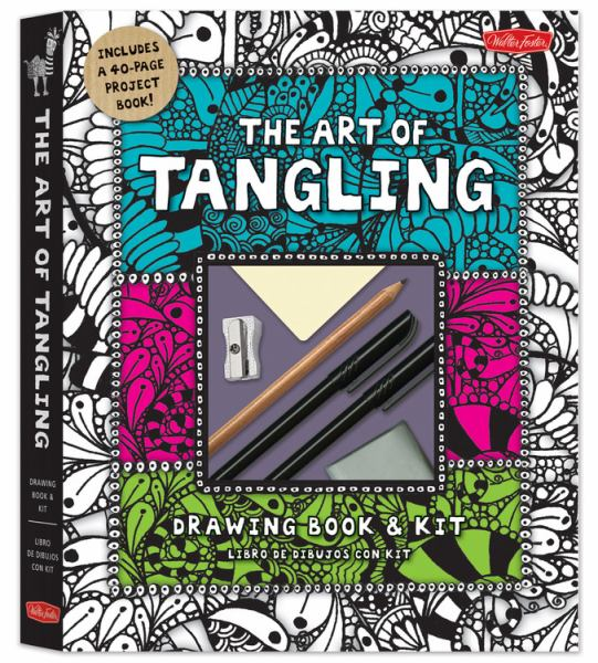 The Art of Tangling Drawing Book and Kit (English & Spanish)