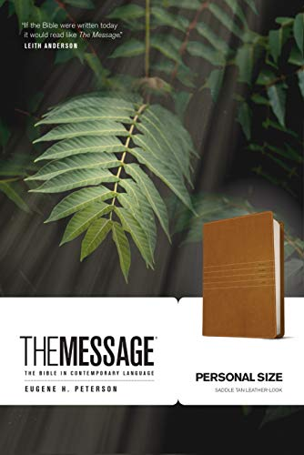 The Message Personal Size Bible (Saddle Tan Imitation Leather)