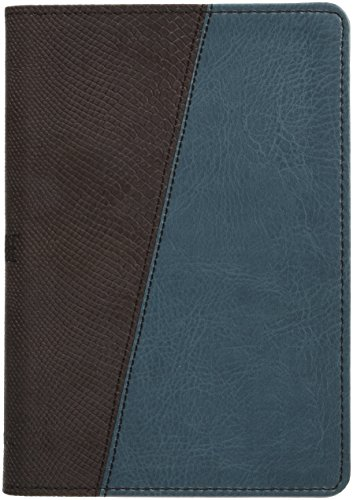 The Message Compact Size Bible (Teal and Brown Python)