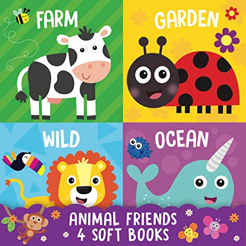 Animal Friends: 4 Soft Cloth Books