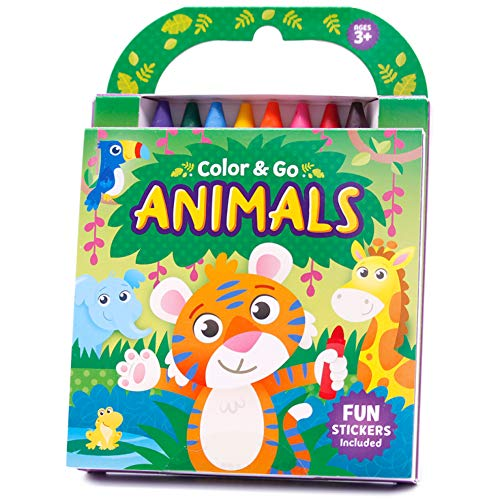 Animals Coloring Book with Crayons (Color & Go)
