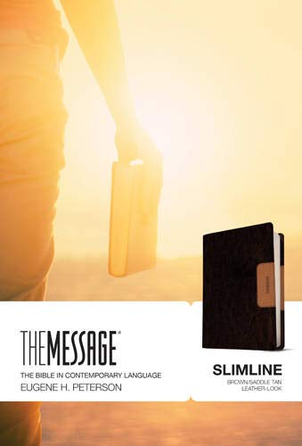 The Message Slimline Bible (Brown/Saddle Tan Imitation Leather)