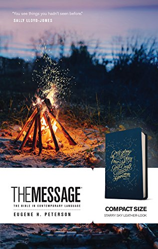 The Message Compact Size Bible (Starry Sky Imitation Leather)