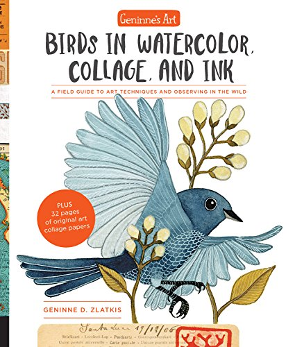 Birds in Watercolor, Collage, and Ink (Geninne's Art)