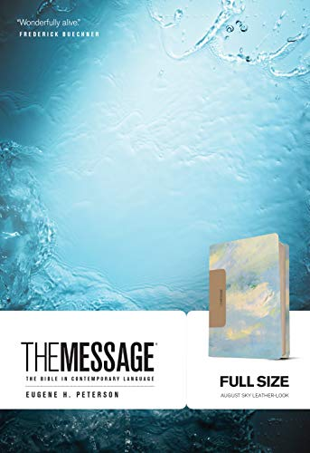 The Message Full Size: The Bible in Contemporary Language (August Sky Imitation Leather)