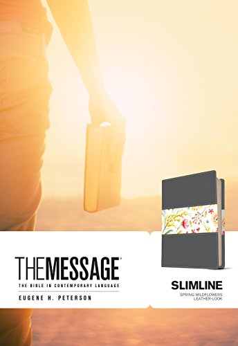 The Message Slimline Bible (Spring Wildflowers Imitation Leather)
