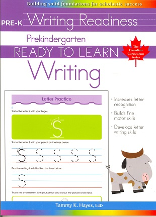 Prekindergarten Writing (Ready to Learn, Canadian Curriculum Series)