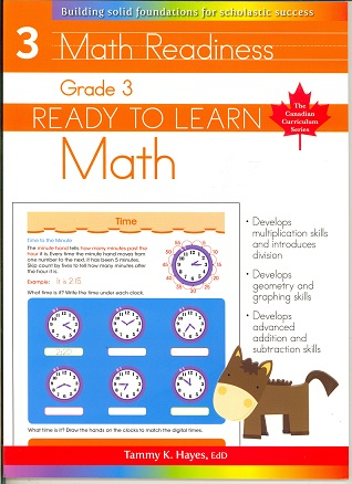 Grade 3 Math (Ready to Learn, Canadian Curriculum Series)