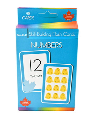 Numbers Skill Building Flash Cards (Grade Pre-K - K, Canadian Curriculum Series)