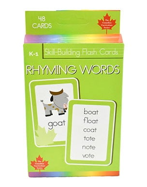 Rhyming Words Skill Building Flash Cards (Grade K-1, Canadian Curriculum Series)