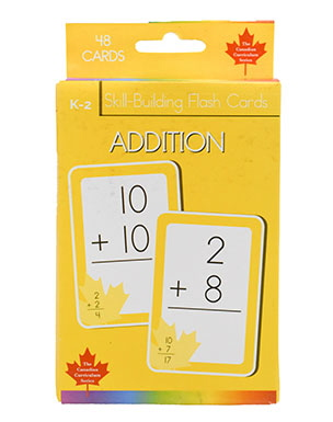 Addition Skill Building Flash Cards (Grade K-2, Canadian Curriculum Series)