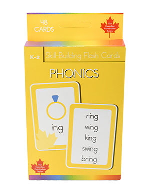 Phonics Skill Building Flash Cards (Grade K-2, Canadian Curriculum Series)