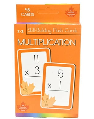 Multiplication Skill Building Flash Cards (Grade 2-3, Canadian Curriculum Series)