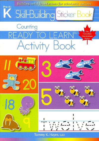 Counting Skill Building Sticker Activity Book (Ready to Learn, Canadian Curriculum Series - Pre-K to K)