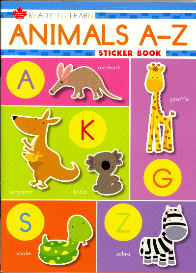 Animals A-Z Sticker Book (Ready to Learn, Canadian Curriculum Series)